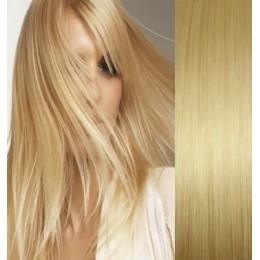 Vlasy pro metodu Pu Extension / TapeX / Tape Hair / Tape IN 50cm - tmavý melír