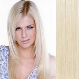 Vlasy pro metodu Pu Extension / TapeX / Tape Hair / Tape IN 50cm - světlý melír