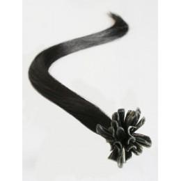 Vlasy evropského typu k prodlužování keratinem 60cm - růžové