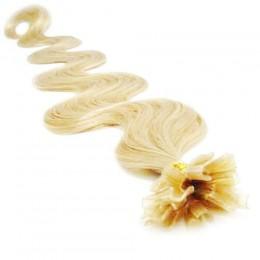 Vlasy evropského typu k prodlužování keratinem 60cm - černé