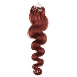 Wellige Haar für die Methoden Micro Ring / Easy Loop 50 cm – kupfer