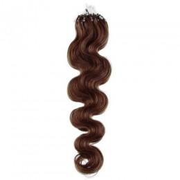 Wellige Haar für die Methoden Micro Ring / Easy Loop 60 cm – mittelbraun