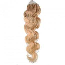Wellige Haar für die Methoden Micro Ring / Easy Loop 60 cm – naturblond