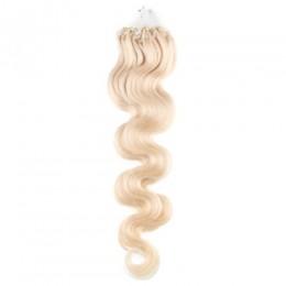 Wellige Haar für die Methoden Micro Ring / Easy Loop 60 cm – platin