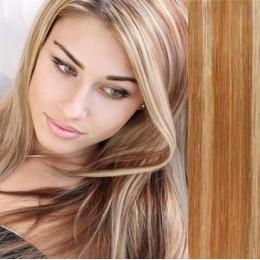 Clip in vlasy 43cm 100% lidské - REMY 100g - černá