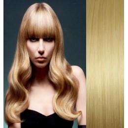 Clip in vlasy 43cm 100% lidské - REMY 70g – tmavý melír