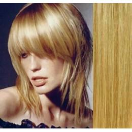 Vlasy evropského typu k prodlužování keratinem 40cm - černé
