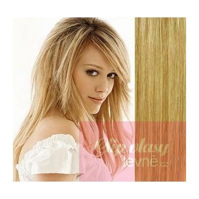53cm Clip In Haar 100% Menschenhaar europäischen Typs - naturblond/hellblond