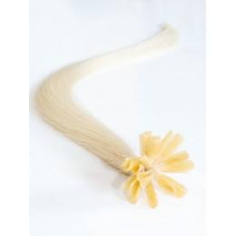 Clip in maxi set 43cm pravé lidské vlasy - REMY 140g - platina