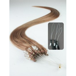 Clip in vlnité vlasy pravé lidské REMY 53cm - světlý melír