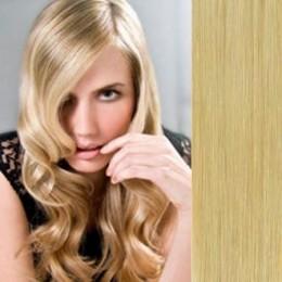 Clip in maxi set 73cm pravé lidské vlasy – REMY 280g – NEJSVĚTLEJŠÍ BLOND