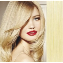 63cm Clip In Haar Remy 100% Menschenhaar europäischen Typs - weißblond
