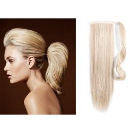 Clip in příčesek culík/cop 100% lidské vlasy 60cm - černý