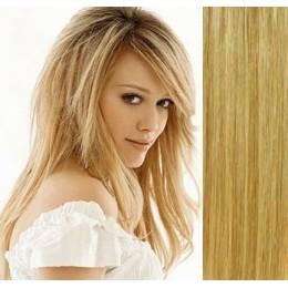 Vlasy evropského typu k prodlužování keratinem 50cm - světlejší hnědá
