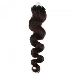Wellige Haar für die Methoden Micro Ring / Easy Loop 50 cm – schwarz natürlich