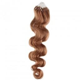 Wellige Haar für die Methoden Micro Ring / Easy Loop 60 cm – hellbraun