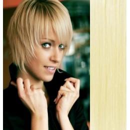 Clip in vlasy 43cm 100% lidské - REMY 70g – přírodní/světlejší blond